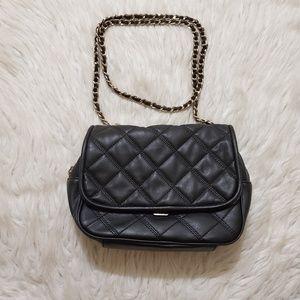 Zara Black Quilted Crossbody Bag